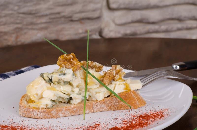 Błękitnego sera zakąska obraz stock