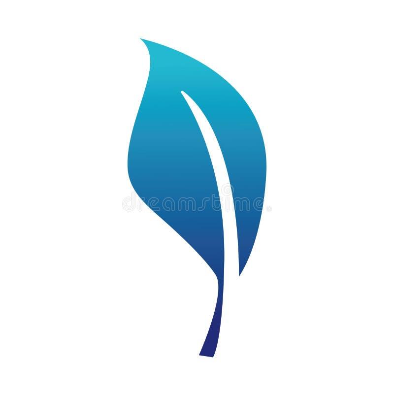 Błękitnego sylwetki natury liścia rośliny egzotyczny projekt ilustracja wektor