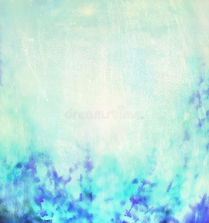 Błękitnego turkusu natury zamazany tło zdjęcia stock