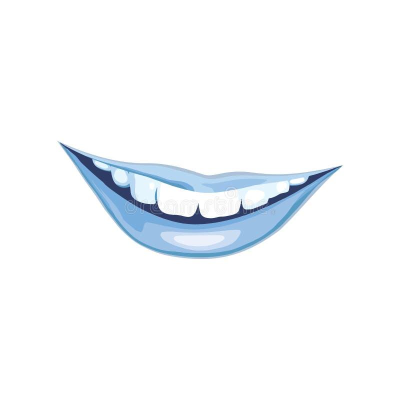 Błękitnego uśmiechu ikony wektorowy logo ilustracji