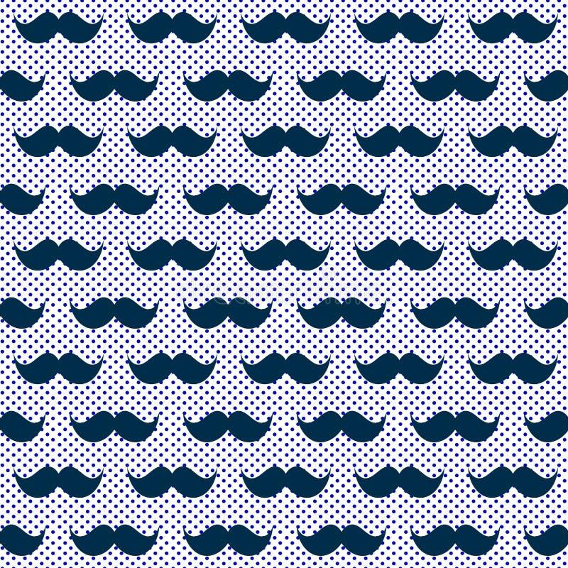 Błękitnego wiskers wąsa bezszwowa tekstura ilustracji
