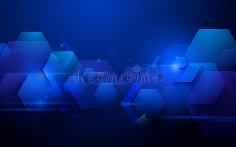 Błękitnej abstrakcjonistycznej technologii techniki pojęcia cyfrowy tło cześć royalty ilustracja