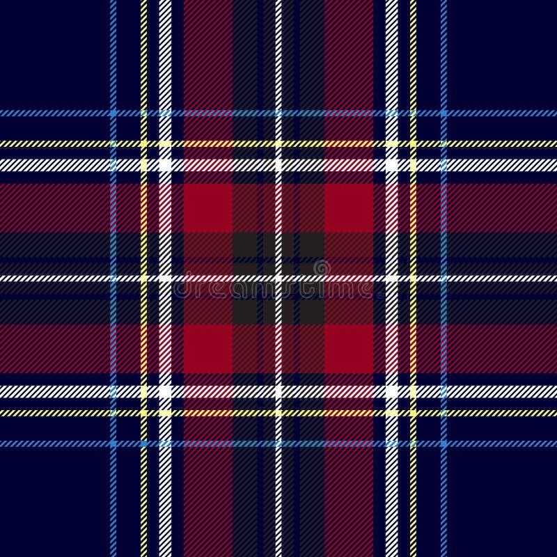 Błękitnej czerwieni czeka szkockiej kraty tekstury bezszwowy wzór ilustracja wektor
