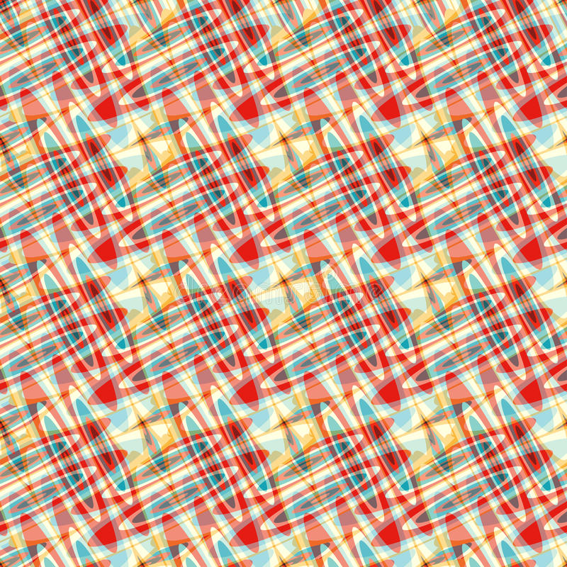 Błękitnej czerwieni kolor żółty okrąża psychodelicznego abstrakcjonistycznego tło ilustracji