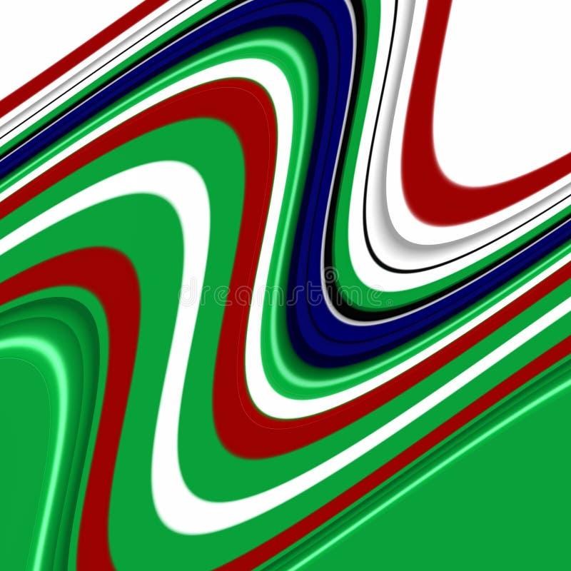 Błękitnej czerwieni zieleni biali kształty, grafika, abstrakcjonistyczny tło royalty ilustracja