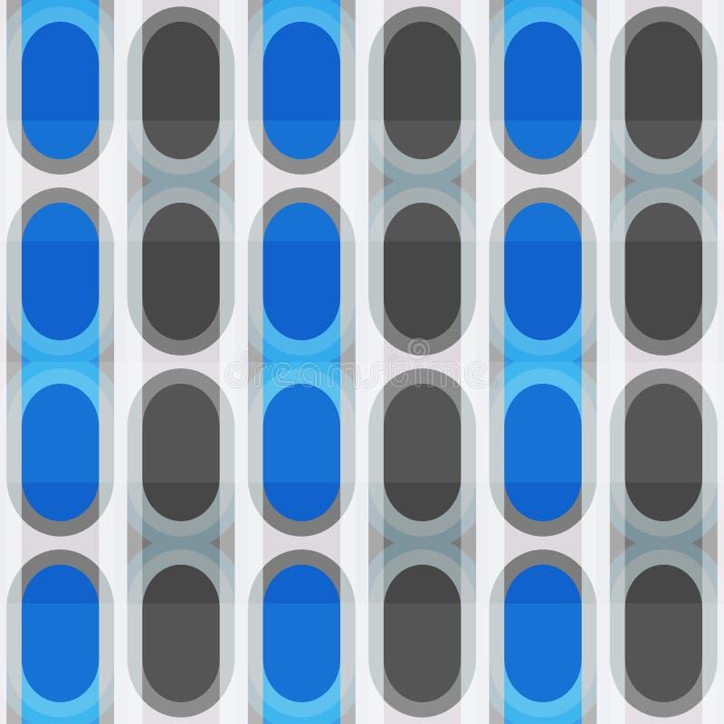 Błękitnej elipsy bezszwowy wzór ilustracji