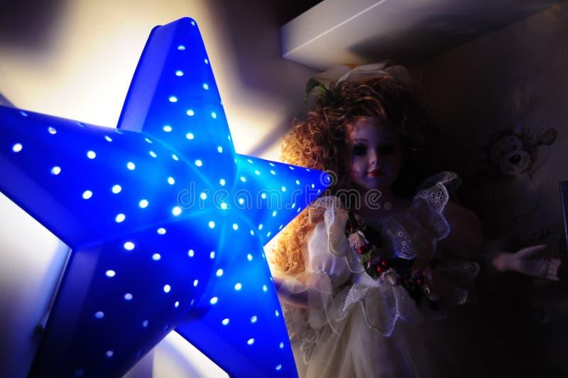 Błękitnej gwiazdy światło dla dzieci obraz royalty free