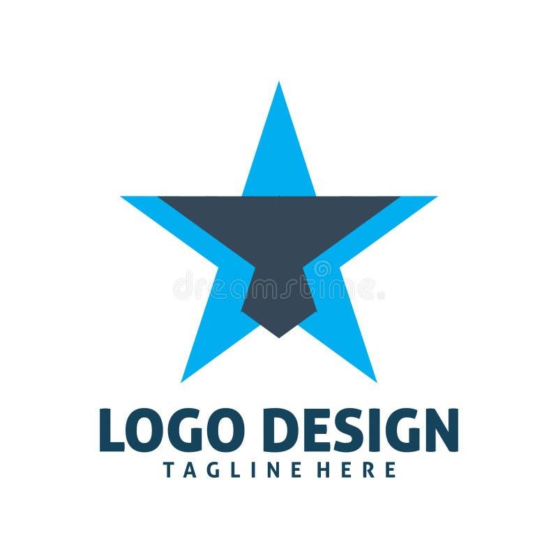 Błękitnej gwiazdy logo ilustracji