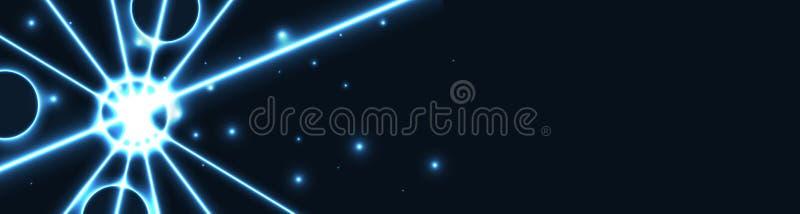 Błękitnej gwiazdy sieci sztandar royalty ilustracja