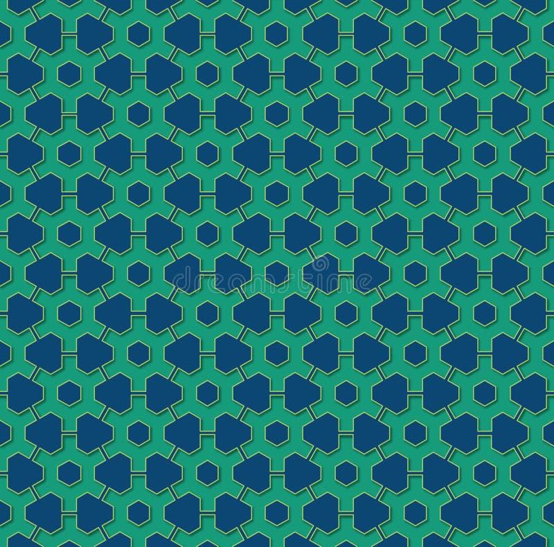 Błękitnej i szmaragdowej zieleni przekładni koła ilustracji