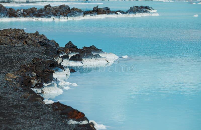 Błękitnej laguny geotermiczny skąpanie. zdjęcie royalty free