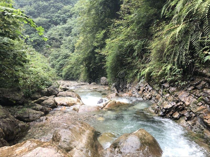 Błękitnej pięknej jezioro zieleni halna Piękna sceneria góry i jeziora zdjęcia stock
