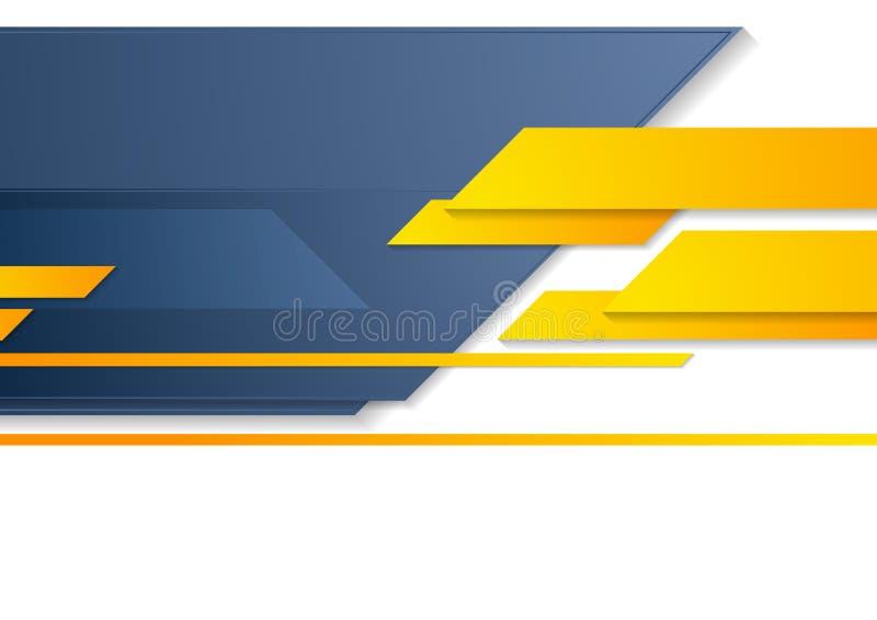 Błękitnej pomarańczowej techniki biznesowej broszurki korporacyjny tło royalty ilustracja