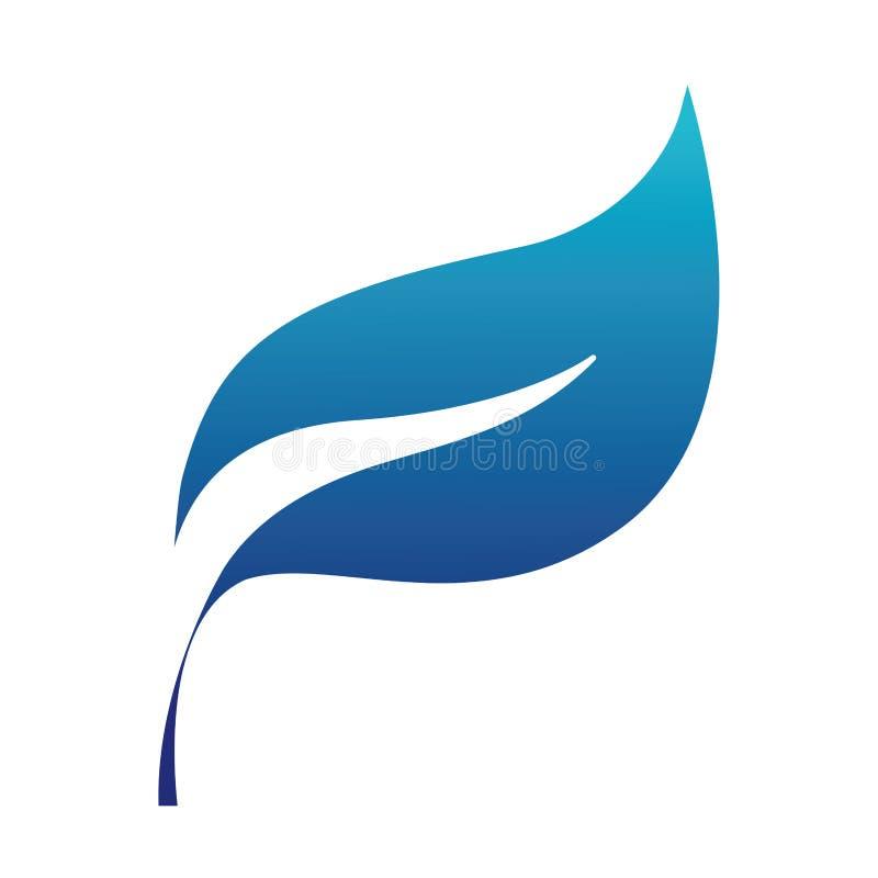 Błękitnej sylwetki natury rośliny liścia egzotyczny projekt ilustracja wektor