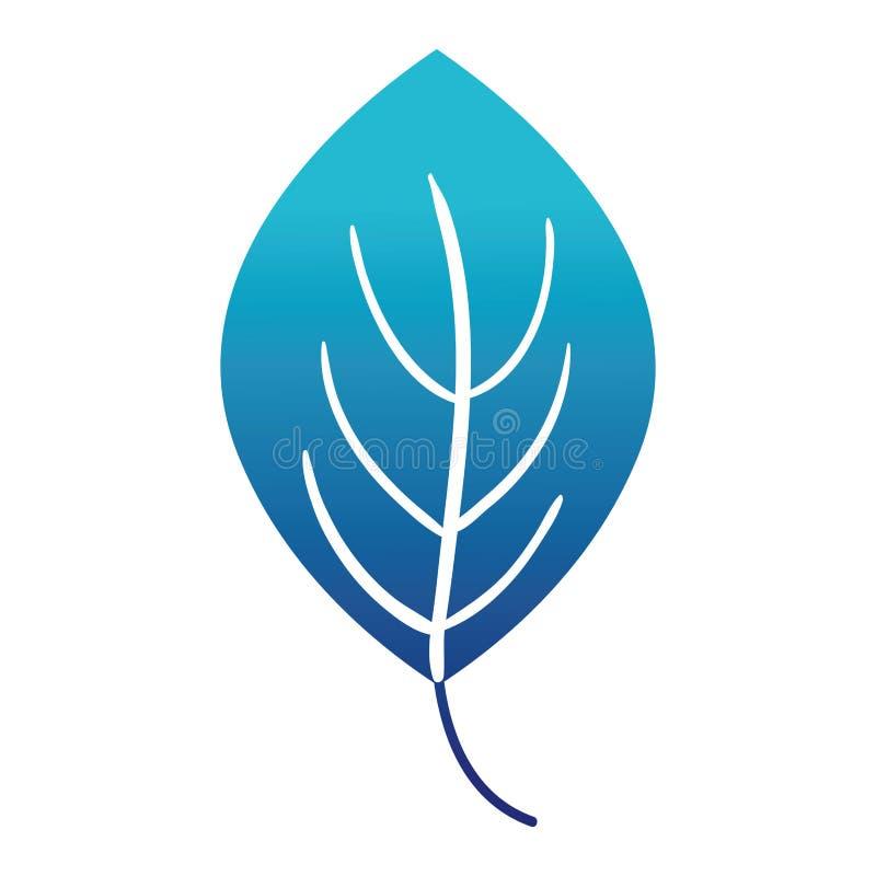 Błękitnej sylwetki rośliny liścia natury tropikalny projekt ilustracji