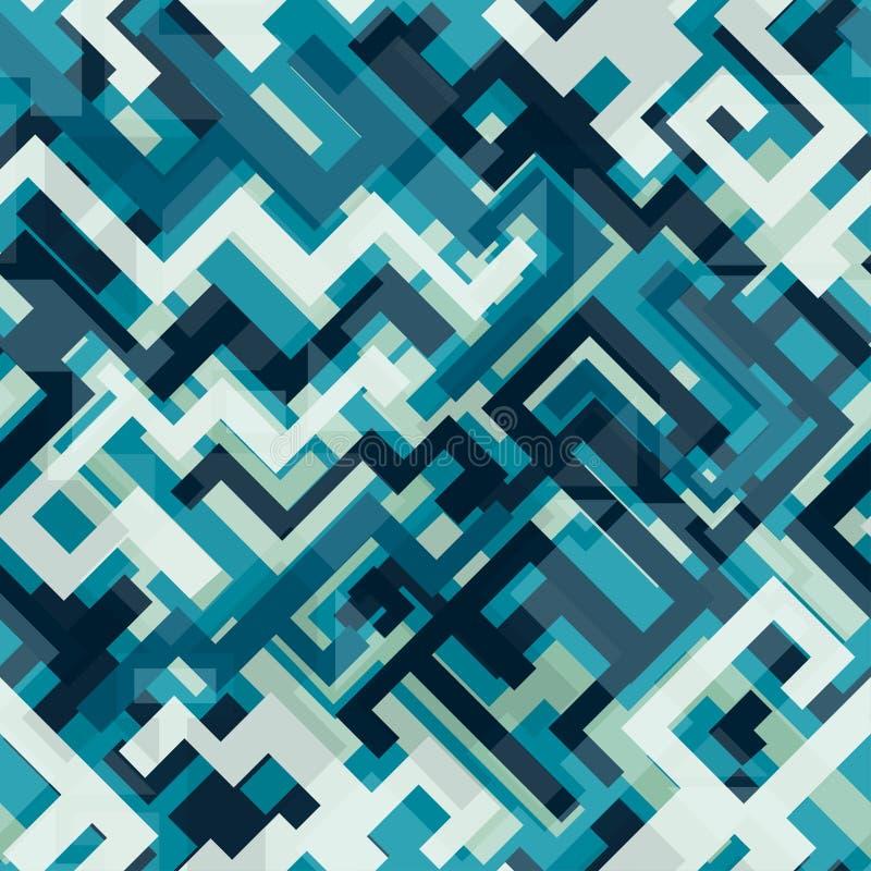 Błękitnej techniki bezszwowy wzór ilustracja wektor