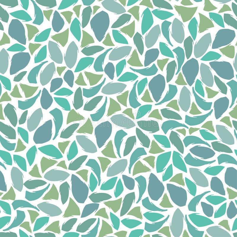 Błękitnej zieleni mozaika ilustracja wektor