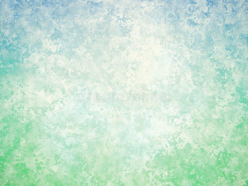 Błękitnej zieleni rocznika biały abstrakcjonistyczny tło ilustracji