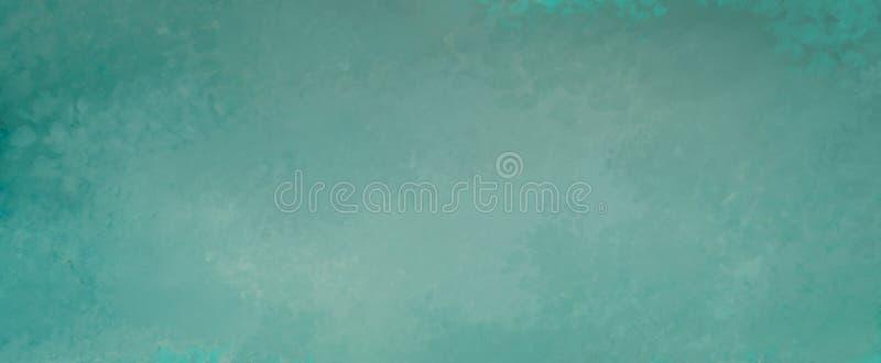 Błękitnej zieleni tło z żyłkowanym starym grunge i zakłopotany rocznik tekstury projekt w abstrakcjonistycznym pustym sztandaru p obrazy royalty free