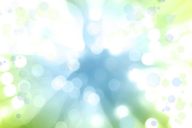 Błękitnej zieleni wybuch obraz royalty free