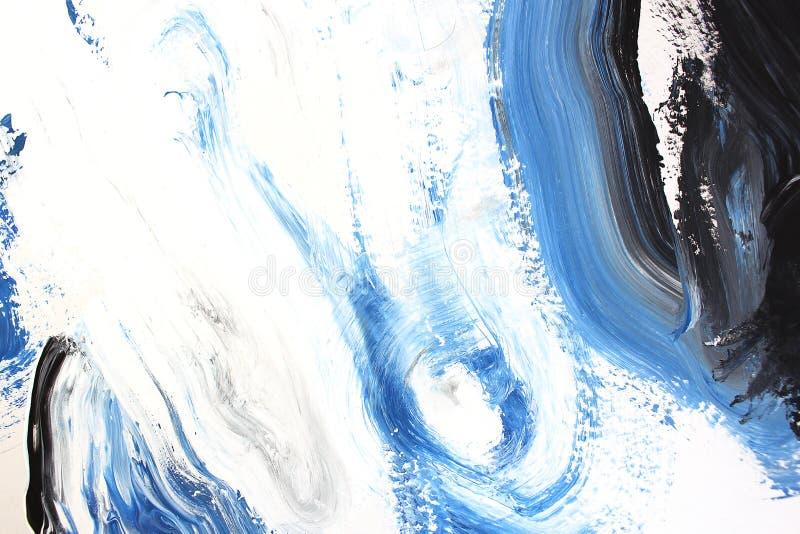 błękitni świezi kolory na kanwie sztuki abstrakcjonistycznej tło Kolor tekstura Czerep grafika obraz brezentowy abstrakcyjne ilustracja wektor