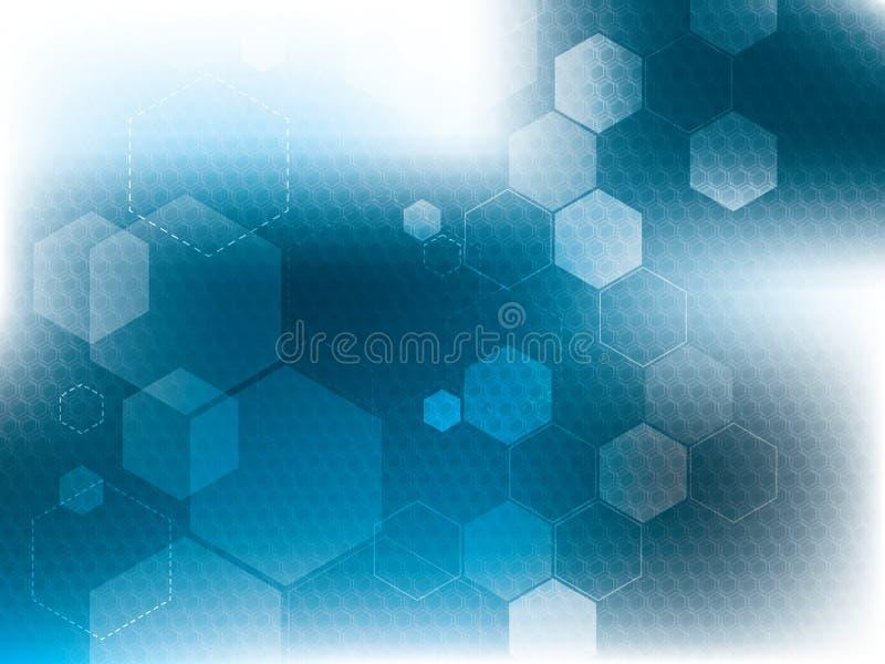 Błękitni abstrakcjonistyczni technologii tła ilustracji