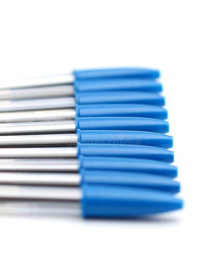 Błękitni Balowego punktu pióra obrazy stock