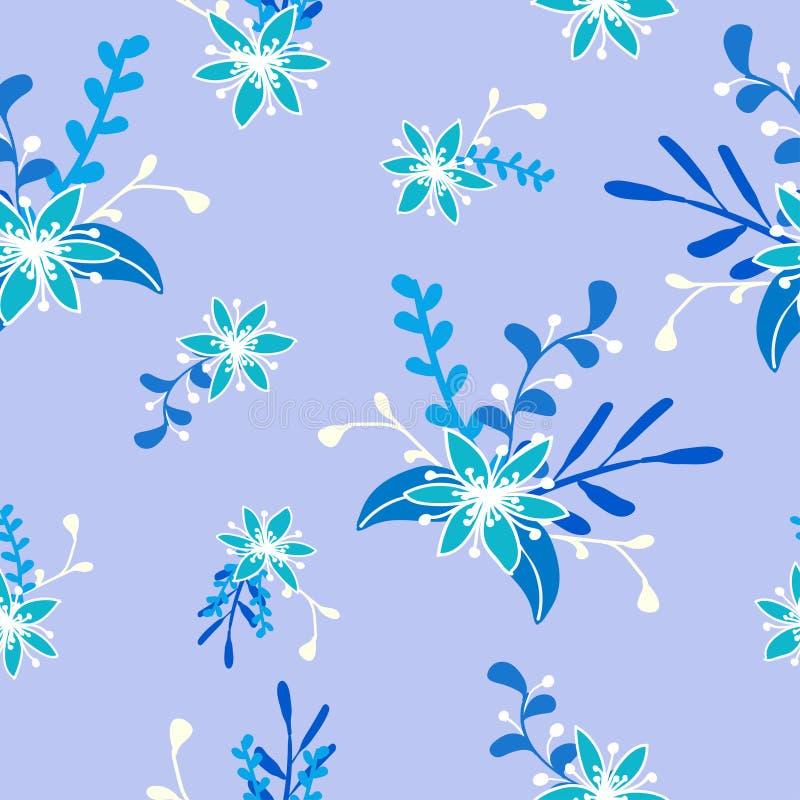 Błękitni boże narodzenie kwiaty nad szarym kolorem ilustracja wektor