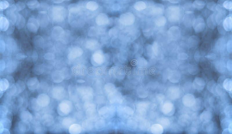 Błękitni Bokeh ściana, tło/ zdjęcie royalty free