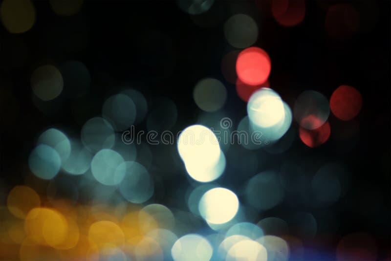 Błękitni bokeh abstrakta światła tła zdjęcia royalty free