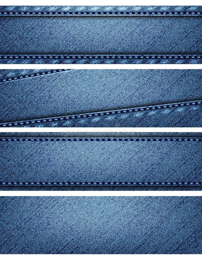 Błękitni drelichowi tekstura chodnikowowie ilustracji