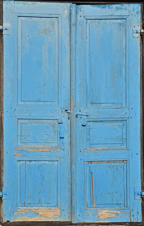 Błękitni drzwi zdjęcia stock