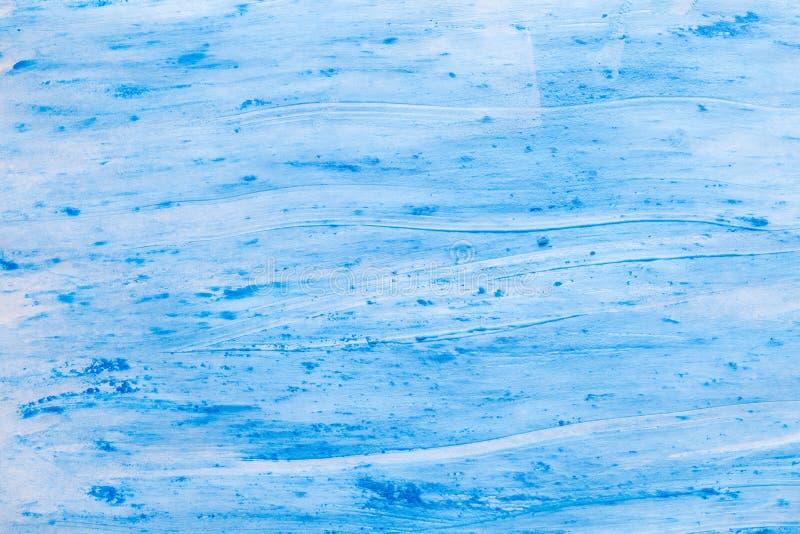 Błękitni farby tła wodnej fali brushstrokes zdjęcie royalty free