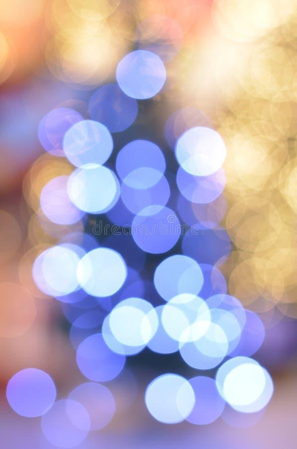 Błękitni i żółci boże narodzenia obraz royalty free