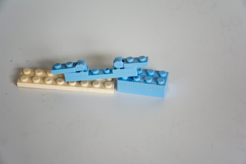 Błękitni i biali elementy zdjęcie stock