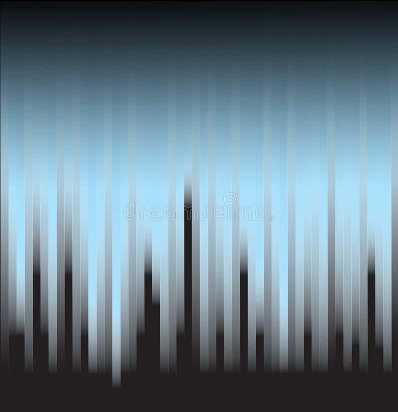 Błękitni lampasy na czerni ilustracji