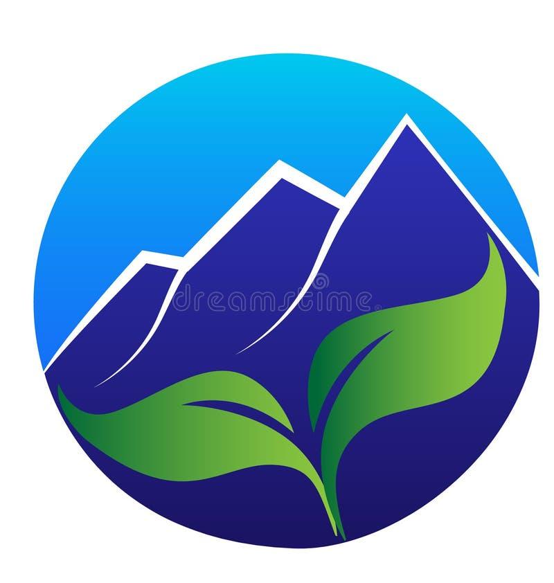 Błękitni liście i góry ilustracji