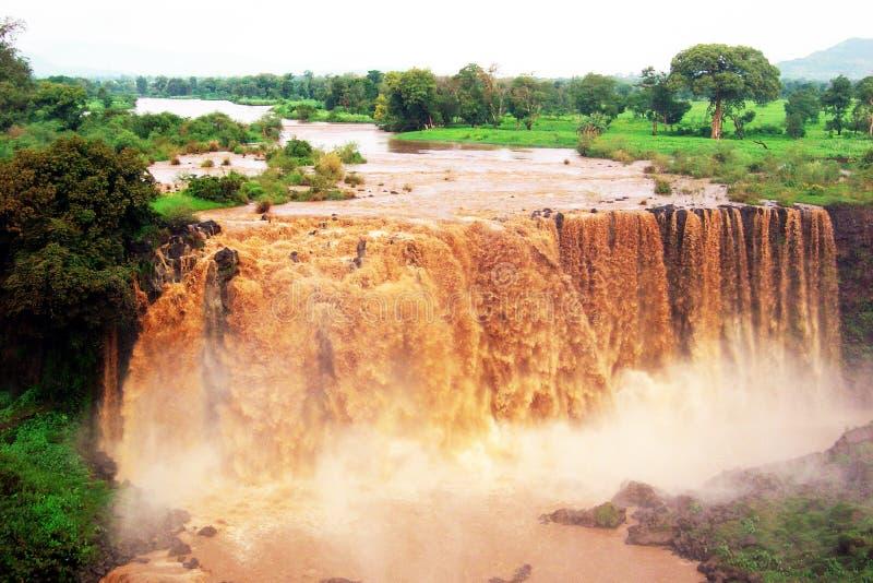 Błękitni Nile spadki obrazy stock