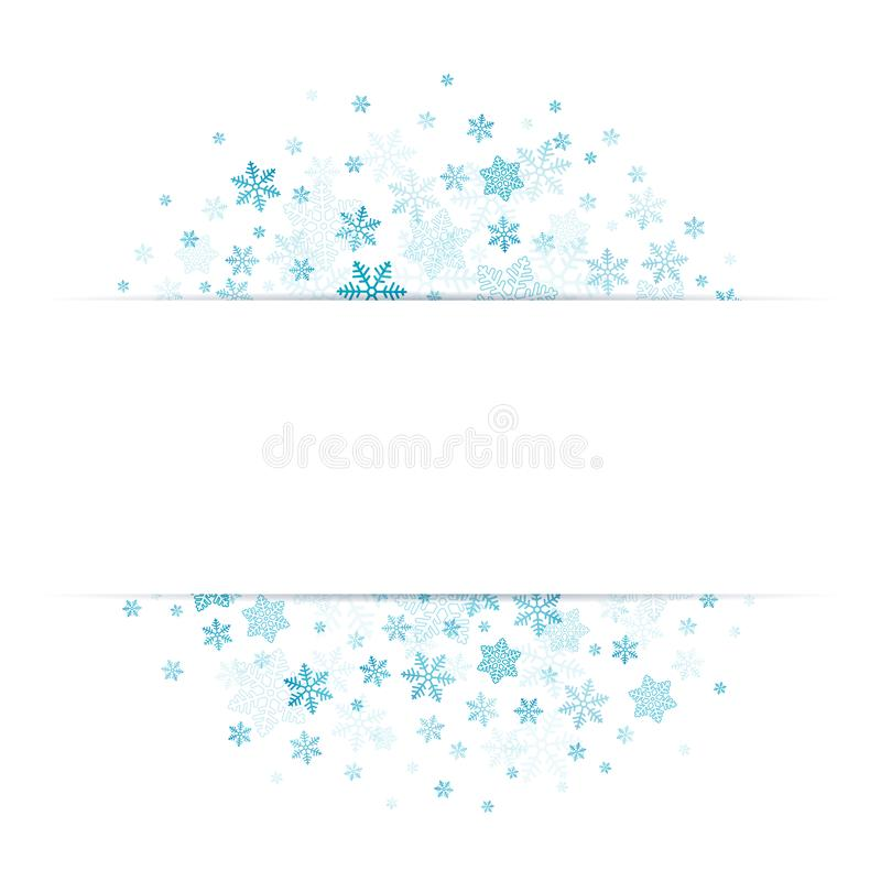 Błękitni płatek śniegu Z sztandarem W środku royalty ilustracja