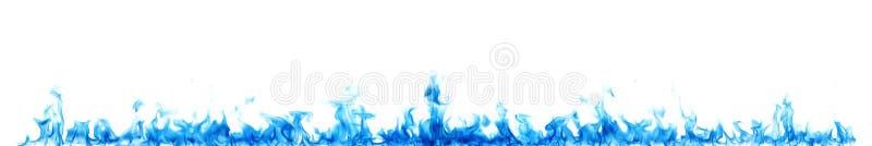 Błękitni płomienie na bielu fotografia stock