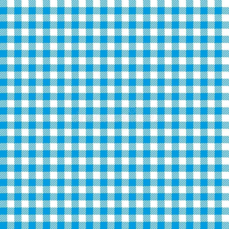 Błękitni w kratkę tablecloths wzory ilustracji