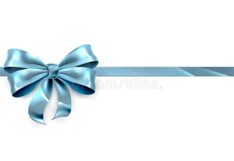 Błękitny łęku prezenta tło ilustracja wektor