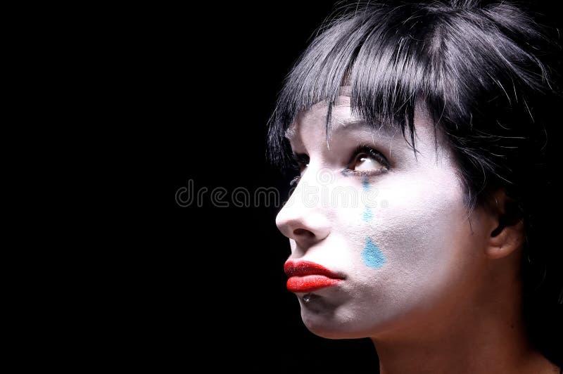 błękitny łzy fotografia stock