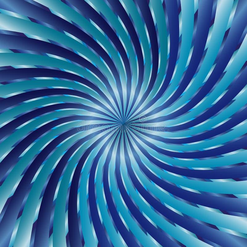 błękitny ślimakowaty vortex royalty ilustracja