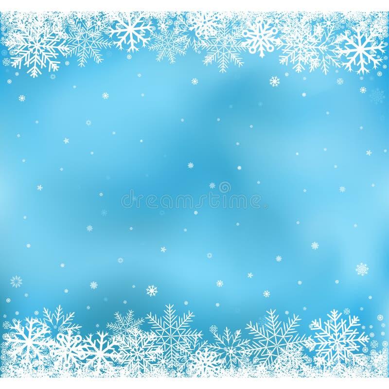 Błękitny śnieżny siatki tło ilustracji