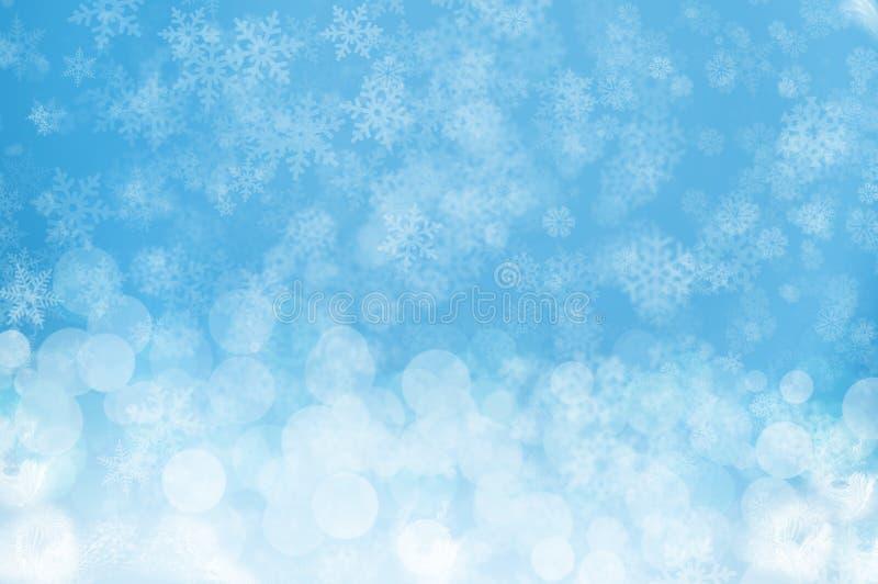 Błękitny śnieżny tło zdjęcie stock