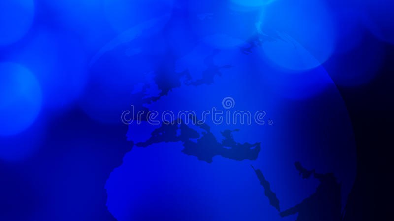 Błękitny światowy kuli ziemskiej prezentaci tło ilustracji