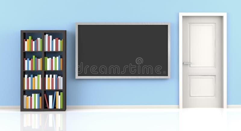błękitny żywy pokój ilustracja wektor