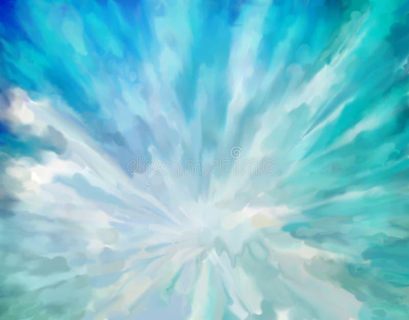 Błękitny abstrakcjonistyczny artystyczny tło ilustracji