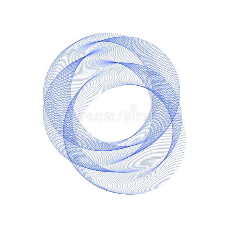 Błękitny abstrakcjonistyczny okrąg abstrakcjonistyczny tło Szablon dla ogólnospołecznej sieci, zavstka, pocztówka, reklamuje royalty ilustracja